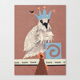 Birds Wearing Clothes - Tiara Canvas Print