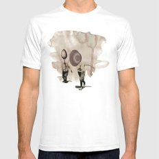 hey diddle diddle 5 MEDIUM Mens Fitted Tee White