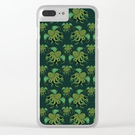 Cthulhu Pattern Clear iPhone Case