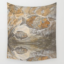 Fishes  /  Mirror underwater Wall Tapestry