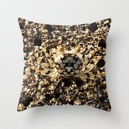 Crab of Sand on Sand Throw Pillow