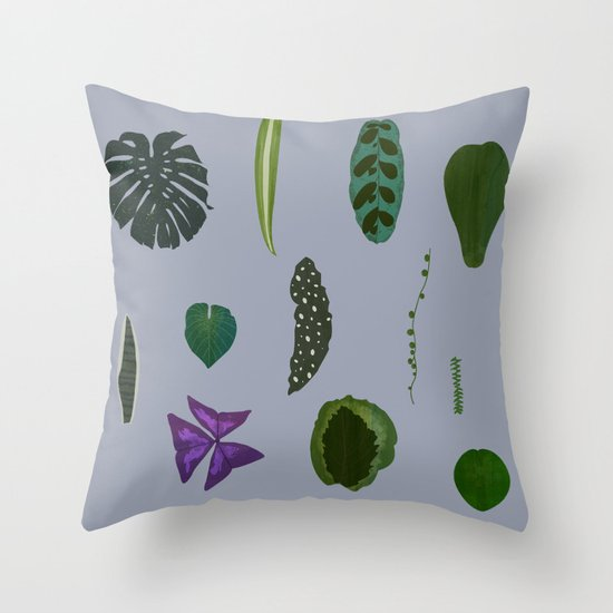 A non-scientific botanical investigation of the indoor plant. Throw Pillow
