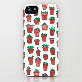Little Succulent Pots iPhone Case