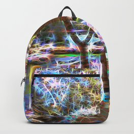 Trees Pond and Light Streams Backpack