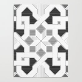 Oriental Pattern - Geometric Design - lines Poster