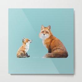 Fox Tenderness Metal Print