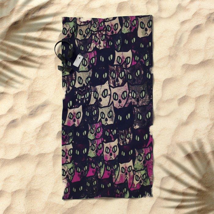 cat-8 Beach Towel