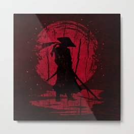 Red Mon Samurai Metal Print