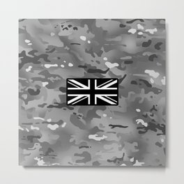 British Flag: Urban Camouflage Metal Print