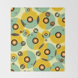Turntables (Yellow) Throw Blanket