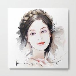 Girls portrait Metal Print