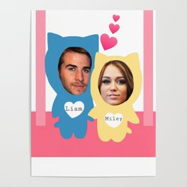Miley and Liam 507 Poster