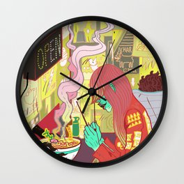 Raspberry the Vampire girl Wall Clock