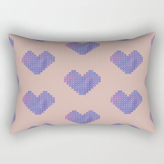 Heart X Purple Rectangular Pillow