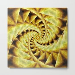 Smoky spiral stairs to floral centre Metal Print