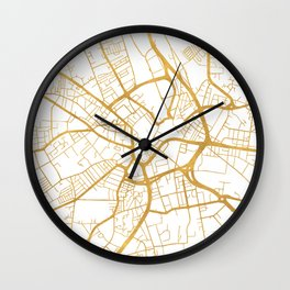BRADFORD ENGLAND CITY STREET MAP ART Wall Clock