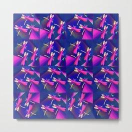 Dragonflies Pink QQ Metal Print