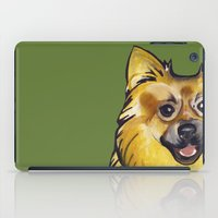 pomeranian iPad Cases featuring Molly the Pomeranian by Pawblo Picasso