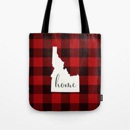 Idaho is Home - Buffalo Check Plaid Tote Bag