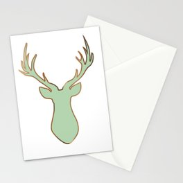 Stag Design Mint Stationery Cards