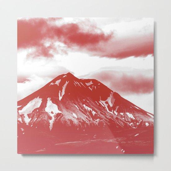 seeing red -mountain Metal Print