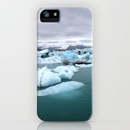 Colorful Glacier Lagoon in Iceland iPhone Case