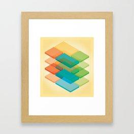 Color Cubes 2 Framed Art Print