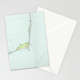 Cape Hatteras National Seashore Map (1985) Stationery Cards