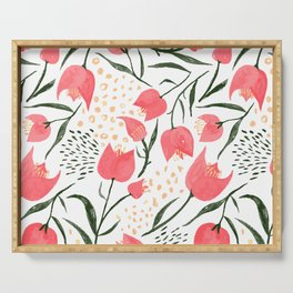 Bougainvillea : Pink Serving Tray