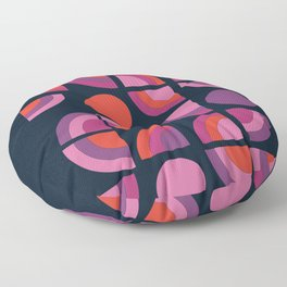 Outta Sight - 70s retro throwback trendy vintage style geometric 1970's Floor Pillow