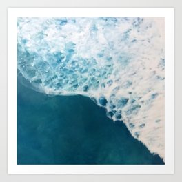 Creamy White Ocean Surf Waves Art Print