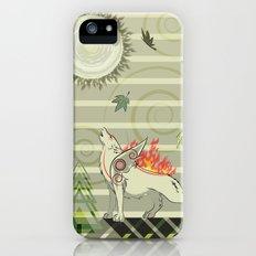 A wolf on fire Amaterasu iPhone (5, 5s) Slim Case