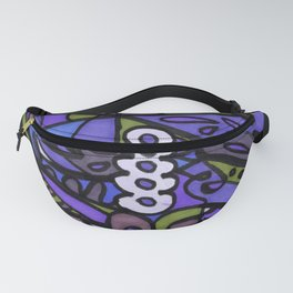 Make Art for Yourself (blue) Fanny Pack