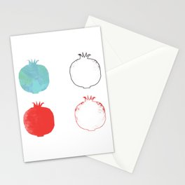 Pomegranate party Stationery Cards
