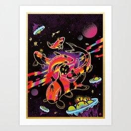 Interdimensional Nishikigoi Art Print