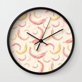 Graphic chili pepper Wall Clock