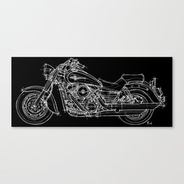 Vulcan 1600 original handmade drawing, gift for bikers Canvas Print