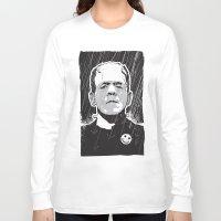 frankenstein Long Sleeve T-shirts featuring Frankenstein by Matt Fontaine Creative