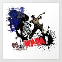 poland Art Prints featuring Poland Wara! by viva la revolucion