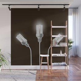 Energy saving bulbs with cords Wall Mural