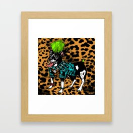 Punk Dog Framed Art Print