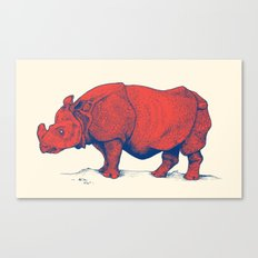Red Rhino Canvas Print
