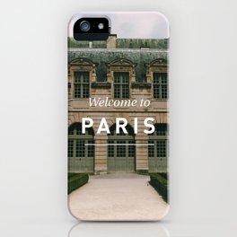 Welcome to Paris: Hotel de Sully, Le Marais iPhone Case
