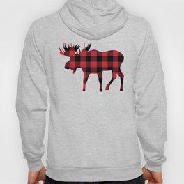 Moose Silhouette in Buffalo Plaid Hoody