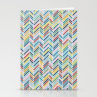 herringbone Stationery Cards featuring Herringbone Colour by Project M