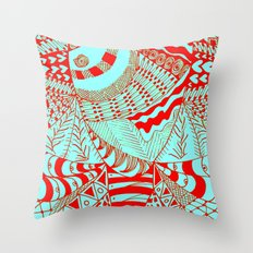 Elephant Butterfly Collection Throw Pillow
