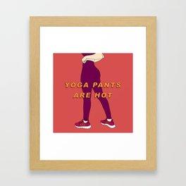 Yoga Pants Framed Art Print