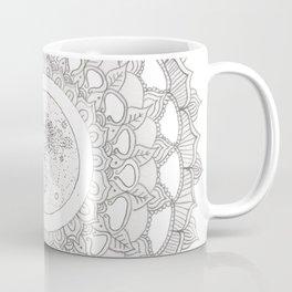 Mandala with Full Moon Illustration Coffee Mug