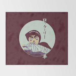 Rock Lee Jutsu Throw Blanket