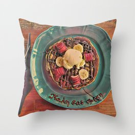 Banana bueno pancakes Throw Pillow